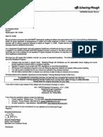 Schering-Plough Cover Letter
