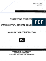 EM 1110-3-160 - Water Supply, General Considerations - Mobilization Construction -Web