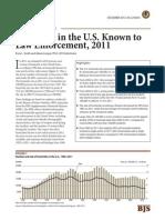 Homicides in U.S. 2011
