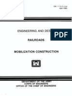 EM 1110-3-152 - Railroads - Mobilization Construction 1