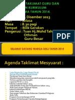 Agenda Mesyuarat Taklimat Pengurusan Sekolah Kali Pertama Tahun 2014
