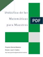 Didactica de Las Matematicas Para Maestros