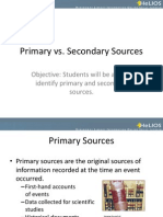Primary Secondary Sources