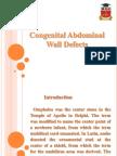 Congental Abdominal Wall Defects
