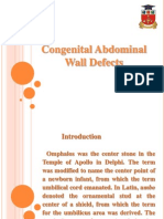 Congental Abdominal Wall Defects