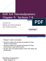 EGR 334 Lecture 36 Gas Reheat and Intercooling