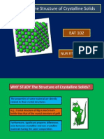 3 (New)the Structure of Crystalline Solids