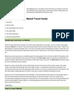 Manali City Guide