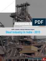 Report on Steel Industry in India 2013