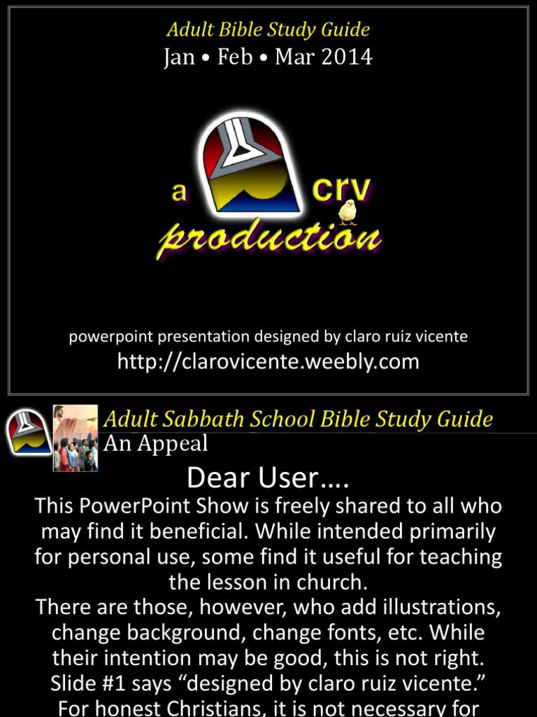 1st Quarter 2014 Lesson 1 Powerpoint Show | Disciple (Christianity) | Jesus