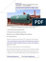 8T Waste Tyre Recycling Pyrolysis Oil Machine of Doing Group