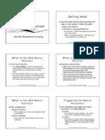 Introduction to SAS Macro Language