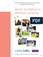 Cancer in Relation to Pharmacy- career