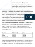 Role of Income Tax in Economic Development of Bangladesh