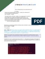 Upgradear Mysql 5.0 a 5.1