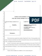 KEYES v OBAMA - 57 - ORDER SETTING SCHEDULING CONFERENCE FOR 10/5/2009 at 8:30 AM