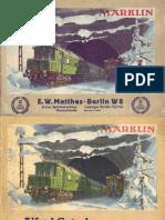 Maerklin Katalog 1937 De