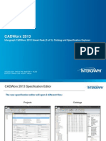 CADWorx 2013 Sneak Peek 3 of 3 Catalog and Specification Explorer