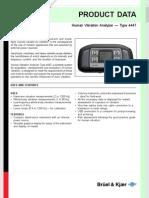 Human Vibration Analyzer Type 4447