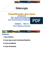 CLASSIFICAÇÃO DOS AÇOS - SAE - AISI - ASTM