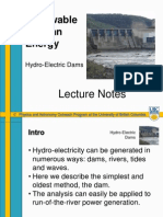SU-Hydro-Electric Dams Lecture Notes