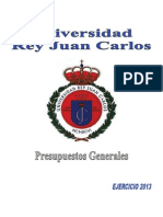 Normas presupuesto URJC 2013
