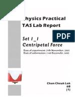 [SCI] Physics Full Lab Report - Centripetal Force