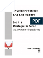 [SCI] Physics Full Lab Report - Centripetal Force