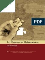 Cartilla Ley Organica de Ordenamiento Territorial. 28 Nov 011