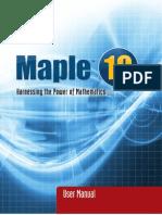 Maple User Manual