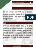 VISIÓN Y MISIÓN DE LA DIRECCIÓN GENERAL DE MEDICINA FORENSE