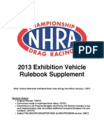 2013 Exhibition Vehicle Rulebook Supplement