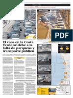 La Costa Verde colapsa los fines de semana por la falta de parqueos y transporte público