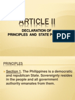 Article II of the 1987 Philippine Constitution