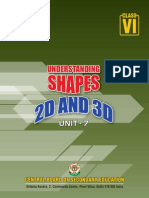Unit-7- Understanding Shapes 2D and 3D