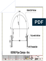 600NB Pipe Clamps