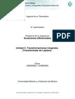 Unidad 3. Transformaciones Integrales Transformadas de Laplace