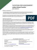 AITSL Secondary School Teacher Application