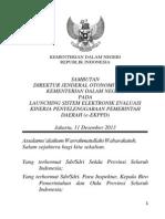 Sambutan Dirjen Launching E-EKPPD