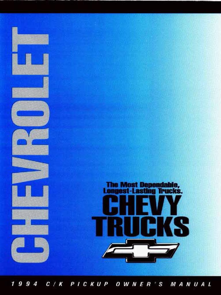 1994 chevrolet c 1500 owners manual seat belt manual transmission rh scribd com 94 Chevy C1500 Truck Parts 1994 Chevrolet Silverado 1500