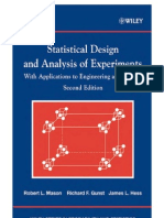 Statistical Design and Analysis of Experiments- 2Ed