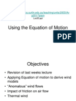 equation of motion