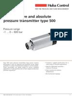 500 Pressure Sensor
