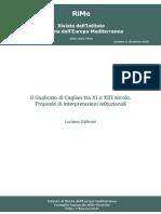 Gallinari 2010 Il Giudicato Di Cagliari Tra XI e XIII Secolo. Proposte Di Interpretazioni Istituzionali