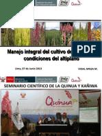 Manejo Integral Cultivo Quinua - Lima