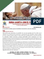 Hora Santa con el Papa.  Navidad 2014