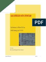 Gas Dispersion With OpenFoam DANSIS Chris Dixon