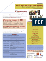 SMALL BUSINESS BOOTCAMP 2014--FLYER