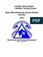 Basic Mountaineering Course Student Handout 2010
