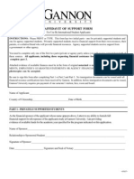 Affidavit Support Form